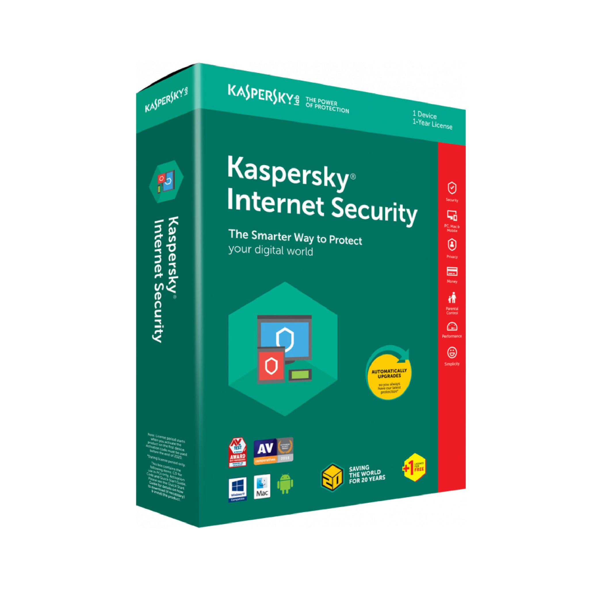 Kaspersky Internet Security 2019- 1 User